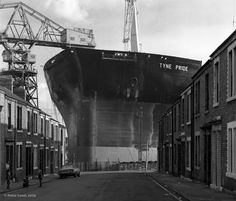 'Tyne Pride' under construction at Swan Hunter's shipyard Wallsend - I remember being taken to see ships being launched with the school when I was quite little