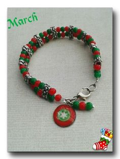Christmas bracelet!  The charm is made with resin.