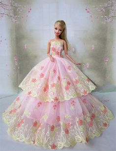 Amazon.co.jp | ウェディングドレス バービー ジェニー momoko リカちゃん など1/6ドール用 (04) | Toys 通販
