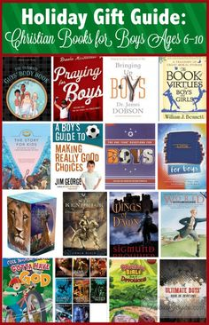 Being a writer, I like to make sure books are a part of my entire family's life. Some of the hardest books to find are ones with good values for boys ages 6–10. I've rounded up some of my favorites books that will teach them more about God!