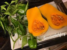 "171 Likes, 9 Comments - Kati Jane (@theurbanladybug) on Instagram: ""Homegrown Butternut & Bell Peppers for dinner making stuffed butternut squash, the whole top of…"""