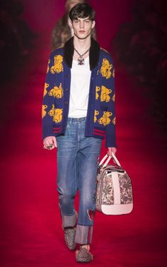 The e-tail giant Matches Fashion recently listed a blue wool Gucci cardigan, with contrasting red ribbed trim, with intarsia yellow teddy bears dancing merrily across it, for sale at a staggering