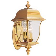 """Gladiator Collection Brass 17 1/2"""" High Outdoor Wall Light"""