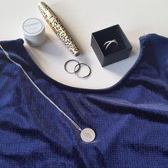Styling by denisebmadsen showing Osiris Multicolour Pendant Silver, Cross Zirconia ring Silver, Diamond Cut Anchor Chain Regular Silver 80 cm and Darling Hoop Earring Fine Large Grey Rhodium #jewellery #Jewelry #bangles #amulet #dogtag #medallion #choker #charms #Pendant #Earring #EarringBackPeace #EarJacket #EarSticks #Necklace #Earcuff #Bracelet #Minimal #minimalistic #ContemporaryJewellery #zirkonia #Gemstone #JewelleryStone #JewelleryDesign #CreativeJewellery #OxidizedJewellery #gold…