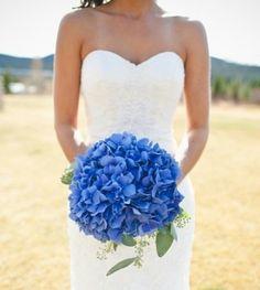 Blue flowers , brides bouquet