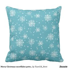 Merry Christmas snowflakes pattern
