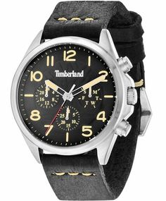 7ca35b90ad3c OROLOI.gr - TIMBERLAND Bartlett Multifunction Black Leather Strap
