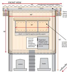 Plan for an 8x8 Layer house for 15-20 hens. //pubs.ext.vt.edu ... Hen House Design For Many Hens Html on