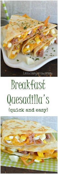 A breakfast quesadilla is what my kids get for breakfast as they are running out the door! Thank goodness they are so quick to throw together! Little Dairy on the Prairie(Quick Breakfast Recipes) Breakfast Quesadilla, Breakfast And Brunch, Breakfast Dishes, Healthy Breakfast Recipes, Brunch Recipes, Healthy Eating, Quesadilla Recipes, Drink Recipes, Quick Breakfast Ideas
