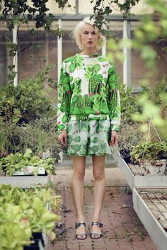 Cactus print jumper with matching organza skirt.