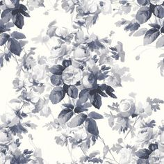 LONDON ROSE Wallpaper China Blue