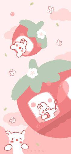 微博 Wallpaper Doodle, Soft Wallpaper, Kawaii Wallpaper, Aesthetic Iphone Wallpaper, Cartoon Wallpaper, Aesthetic Wallpapers, Wallpaper Backgrounds, Youtube Banner Backgrounds, Notebook Art