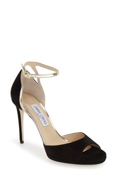 Jimmy Choo 'Pearl' Ankle Strap Platform Sandal (Women) available at #Nordstrom