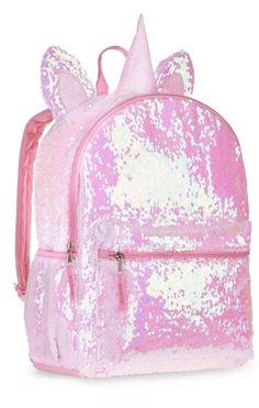 """Kitty Clear 16/"""" Backpack School Book Bag Tote Full Size see through Unicorn ++"""