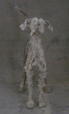 Textile Sculpture, Dog Sculpture, Pottery Sculpture, Animal Masks, Identity Art, Wire Art, Drawing, Textiles, Needle Felting
