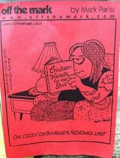 Classroom humor: Ozzy Osbourne's reading list