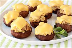 Tuna Melt Stuffed #Mushrooms, Tex-Mex Stuffed Mushrooms... PIN AWAY!! #recipes