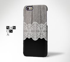 White Lace Floral Wood iPhone 6 CaseiPhone 6 Plus by Nanosart