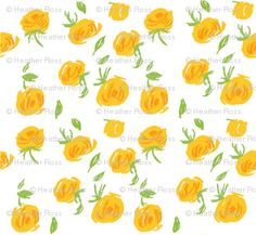 Yellow Roses by Heather Ross
