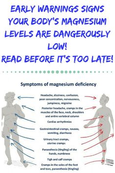 Fatigue remedies for men and women EARLY WARNINGS SIGNS YOUR BODY'S MAGNESIUM LEVELS ARE DANGEROUSLY LOW! READ BEFORE IT'S TOO LATE! Health Vitamins, Health And Nutrition, Health Fitness, Fitness Gear, Fitness Diet, Fitness Motivation, Magnesium Benefits, Health Benefits, Magnesium Supplements