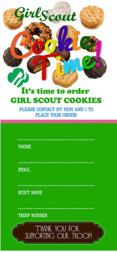 Girl Scout Custom Cookie Door Tags by CranberryBluePaperie