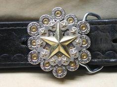 Bullet Belt Buckle Scalloped Star 357 Magnum by badassbeltbuckles, $40.00