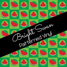 Patterned Vinyl & HTV - Watermelon - 11 Best Settings, Craft Cutter, Patterned Vinyl, Sheet Sizes, All Brands, Heat Transfer Vinyl, Adhesive Vinyl, Watermelon, Cricut