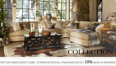 Furniture Sectionals & Hampton Sectional | Pottery Barn