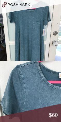 BNWT LuLaRoe XXS Acid Wash Carly BNWT!  Super cute denim blue acid wash Carly!  Smoke free and pet free home. LuLaRoe Dresses