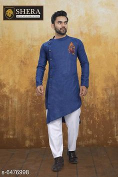 Kurta Sets Attractive Men's Wear Kurta set Top Fabric: Cotton Bottom Fabric: Cotton Sleeve Length: Long Sleeves Bottom Type: Straight Pajama Stitch Type: Stitched Pattern: Solid Sizes: XL (Chest Size: 45 in Top Length Size: 44 in Bottom Waist Size: 34 in Bottom Length Size: 42 in)  L (Chest Size: 43 in Top Length Size: 44 in Bottom Waist Size: 32 in Bottom Length Size: 42 in)  M (Chest Size: 41 in Top Length Size: 44 in Bottom Waist Size: 30 in Bottom Length Size: 42 in)  XXL (Chest Size: 47 in Top Length Size: 44 in Bottom Waist Size: 36 in Bottom Length Size: 42 in) Country of Origin: India Sizes Available: M, L, XL, XXL *Proof of Safe Delivery! Click to know on Safety Standards of Delivery Partners- https://ltl.sh/y_nZrAV3  Catalog Rating: ★4 (2556)  Catalog Name: Fashionable Men Kurta Sets CatalogID_1030940 C66-SC1201 Code: 368-6476998-