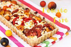Tomato tart with poppy seed crust and goat cheese  @RoxanaGreenGirl | Roxana's Home Baking