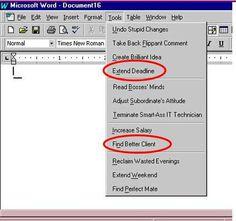 Word options for translators