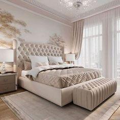Modern Luxury Bedroom, Luxury Bedroom Design, Master Bedroom Interior, Room Design Bedroom, Bedroom Furniture Design, Room Ideas Bedroom, Luxurious Bedrooms, Home Decor Bedroom, Kids Bedroom