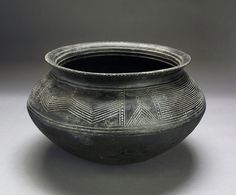 Cooking Vessel, c. 1968; W. Africa, Central Ivory Coast Bouake area; Tanak Sakasson Village; pit-fired ; Gift of MAW 2009.2.0216