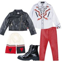 Biker e camicia John Richmond  outfit Girl (6-11 years old)  de4a9ea80288