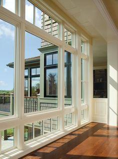 Floor to Ceiling Window Layout Idea - Kitchen/Living Room Area