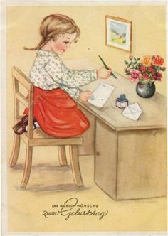 AMARNA IMAGENS: ILUSTRAÇÕES VINTAGE DE CRIANÇAS - servem também como postais