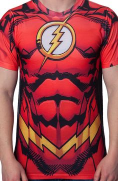 Flash Costume T-Shirt: DC Comics Flash T-Shirt