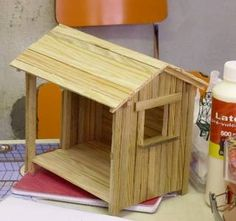 Miniature wooden shed