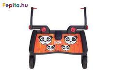 Jellemzői:   - Valamennyi MamaKiddies babakocsival kompatibilis, melyek hátsó tengelyének szélessége 31-54 cm   - Terhelhetősége: 20 kg   - A szettben található adapter segítségével könnyen felszerelhető a babakocsi hátsó részére   - A fellépő szélessége 46 cm, mélysége 18 cm Panda, Pandas