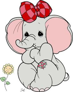 Baby Cartoon Elephants With Flowers Clip Art Images.All Images Are On A Transparent Background Elephant Colour, Elephant Love, Animal Drawings, Cute Drawings, Cute Cartoon, Cartoon Art, Frog Coloring Pages, Baby Elephant Nursery, Cartoon Elephant