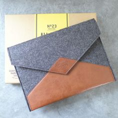 gentlemen's leather and wool felt tablet case by lilac coast   notonthehighstreet.com