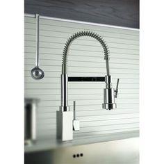 DAX 84.557P (h 48,4) rubinetto monocomando lavello bocca a molla con asta orientabile doccia 2 funzioni - Bagno Italiano