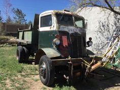 This 1941 Autocar U-2044 4X4 cab over engine truck is believed to have originally served as a gas or oil tanker during WWII but has more recently had a hydraulic dumper bed added. Complete with its matching-numbers 5.2 liter Hercules straight-six, the seller has made no attempts to start it but note