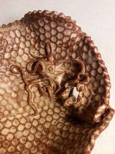 Steampunk Octopus Tentacle Sculpture Tide Pool Bowl by MyLivingArt, $80.00