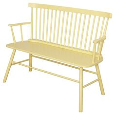 Shelby Bench - Yellow