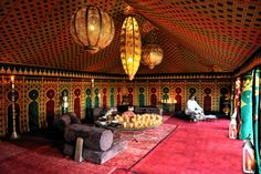 A #vibrant #Caidal #tent at the #Moroccan #Amanjena. #Marrakech #red #colors #travel #F1S