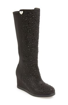 Stuart Weitzman 'Lana - Meg' Wedge Boot (Little Kid & Big Kid) available at Nordstrom ~ Jersey