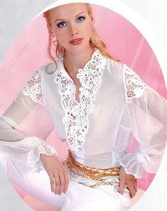 Irish Lace Crochet Patterns and Resources A Bit About Irish Crochet Lace Elisa Cavaletti, Sexy Blouse, Lace Outfit, Irish Lace, Blouse Vintage, White Outfits, Irish Crochet, Sewing Clothes, Vintage Patterns