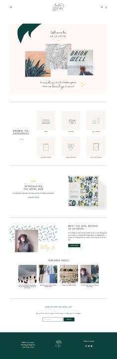 La La Local Branding & Website Design by Little Trailer Studio